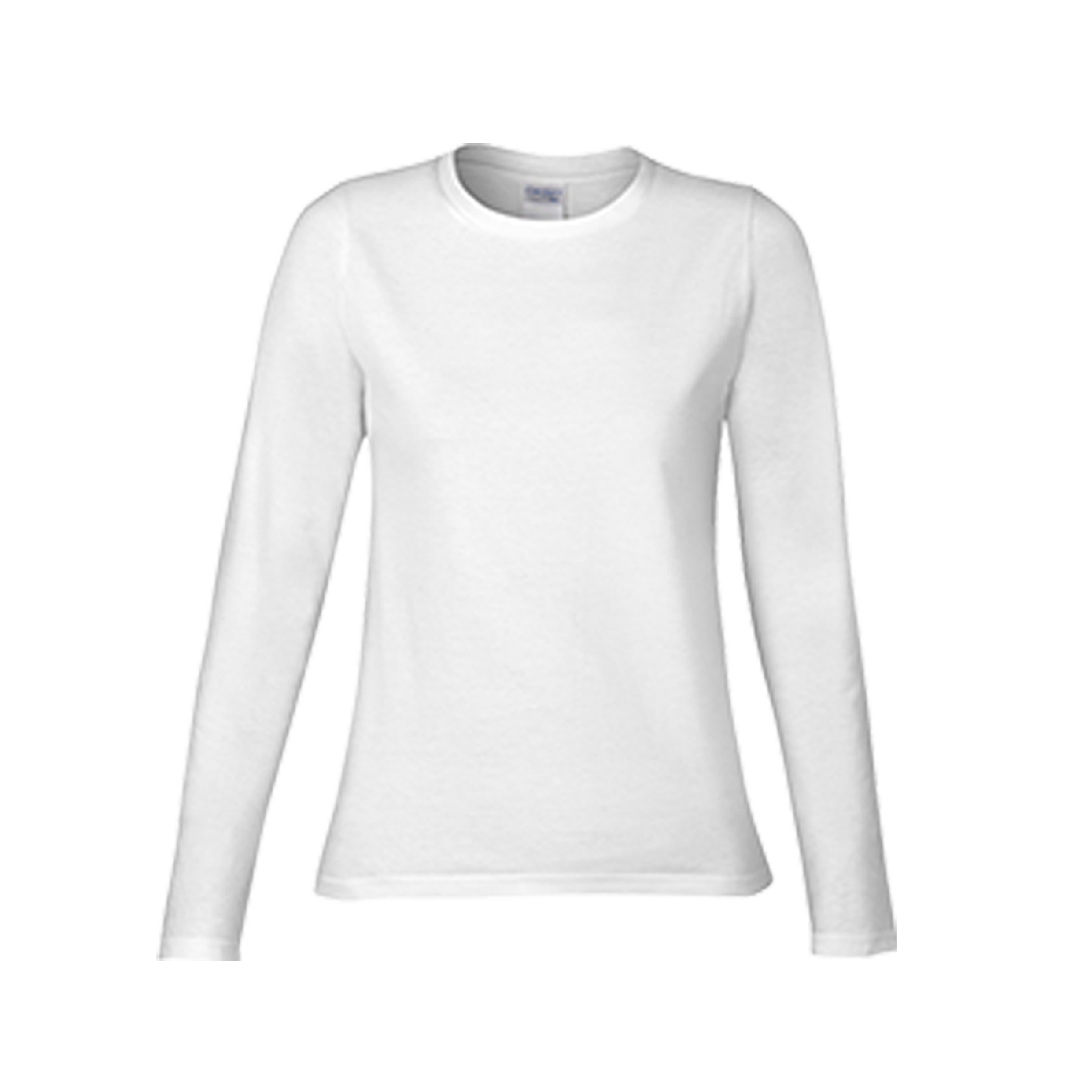 Gildan premium cotton ladies long sleeve t shirt 76400l for Women s 100 cotton long sleeve tee shirts