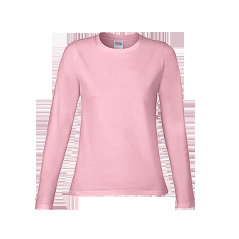 Gildan premium cotton ladies long sleeve t shirt 76400l for Long t shirts for ladies online