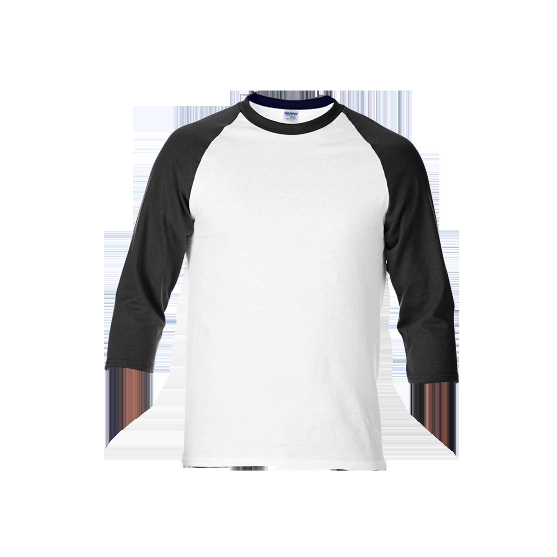 Gildan premium cotton adult 3 4 sleeve raglan t shirt for Colour t shirt printing