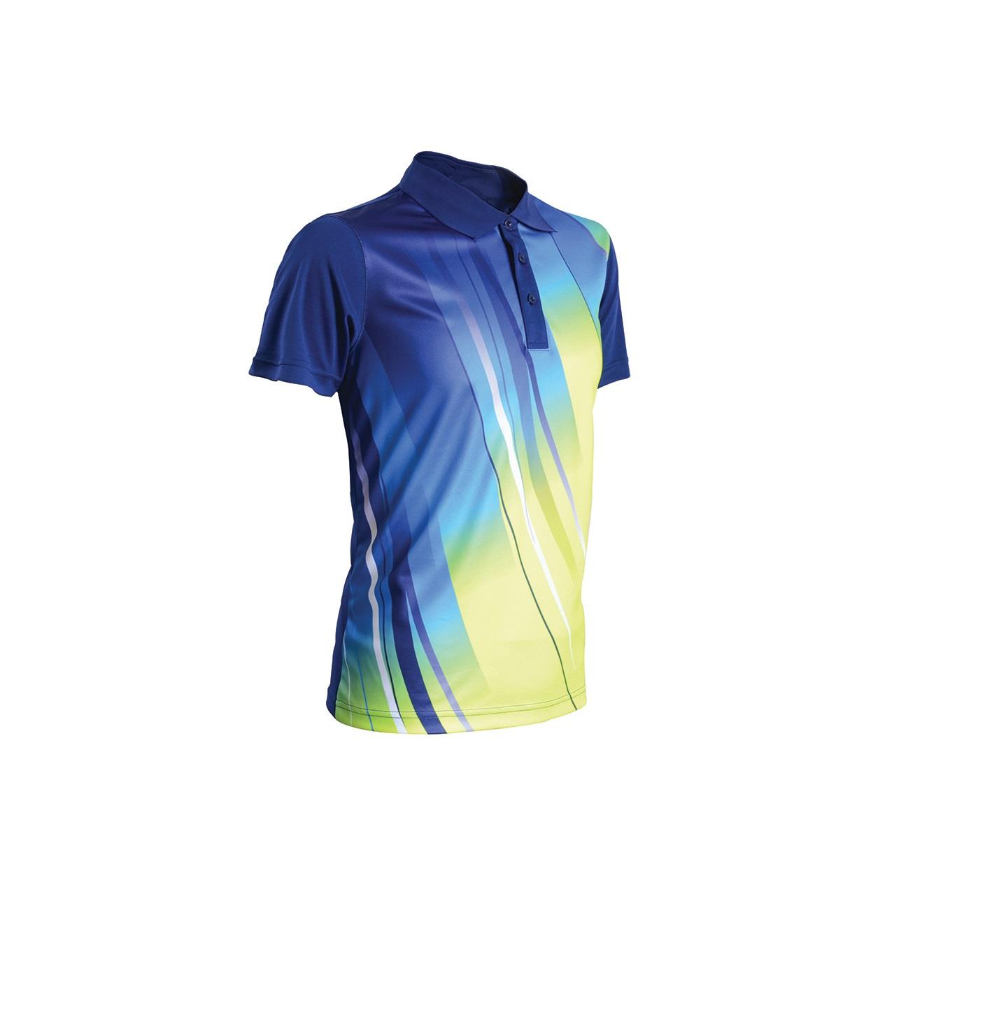 Design t shirt neon colors - Qd 4209 Navy Blue Fluorescent Yellow Ocean Blue