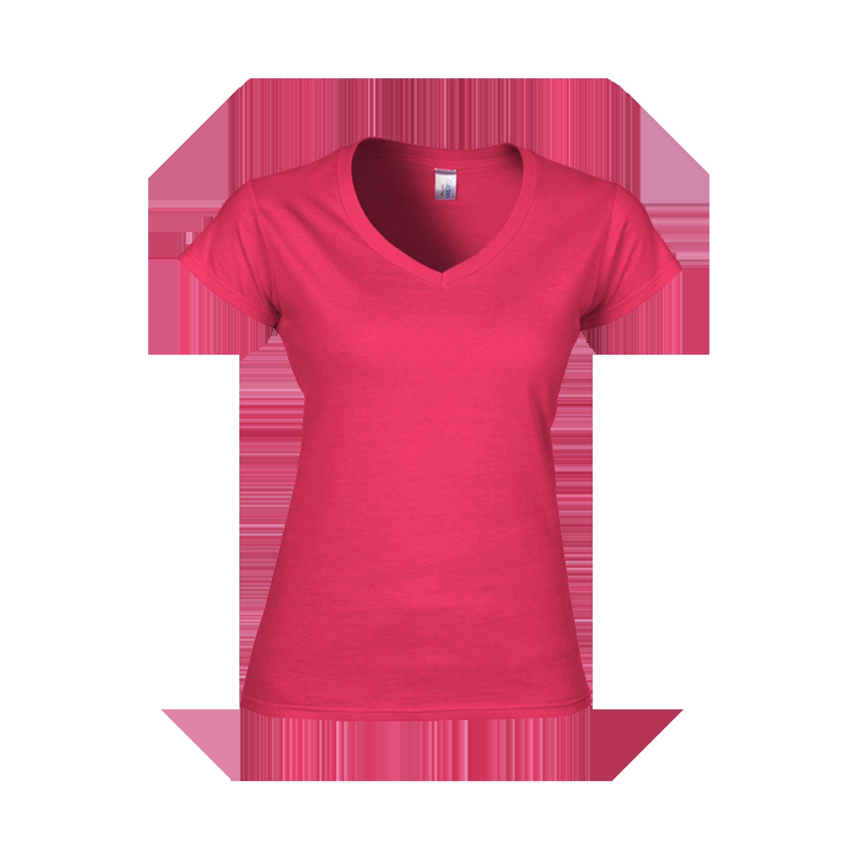 Gildan softstyle ladies v neck t shirt 63v00l 6 colors for Colour t shirt printing
