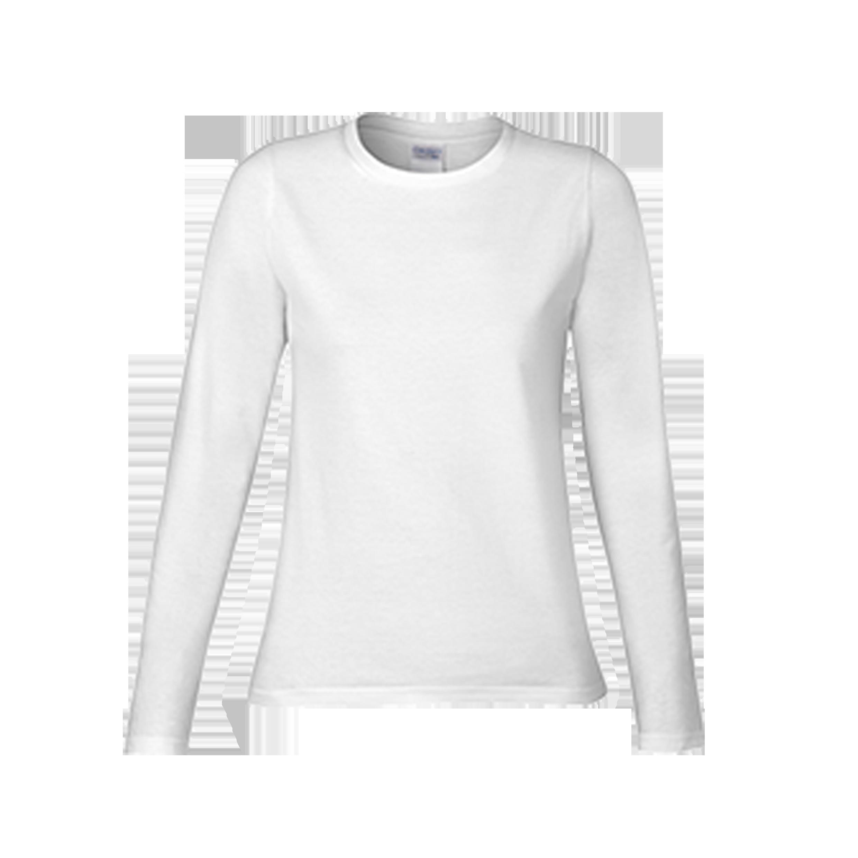 Gildan premium cotton ladies long sleeve t shirt 76400l for White long sleeve tee shirt womens