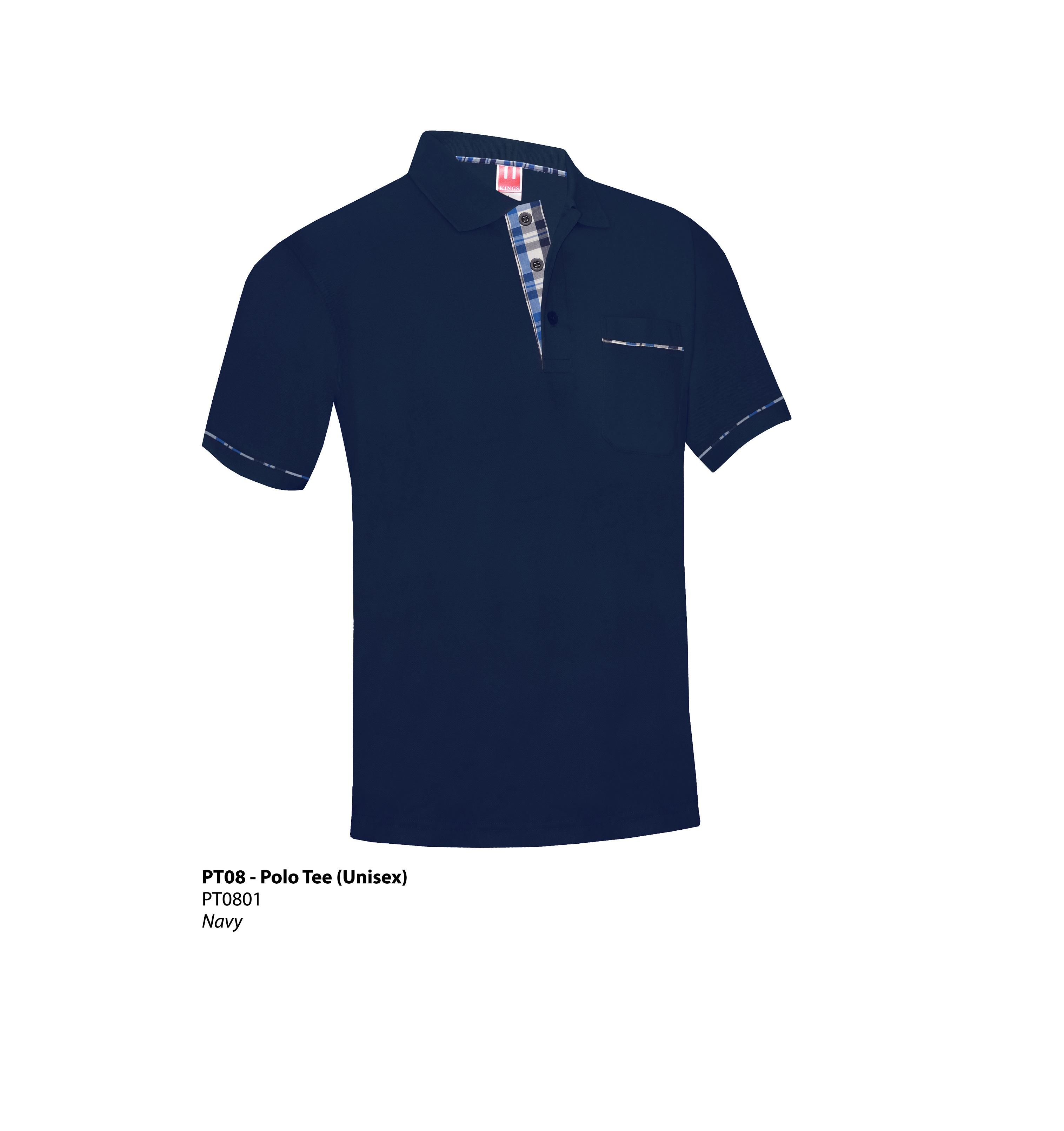 navy blue polo shirt with pocket