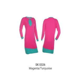SK0326 MAGENTA/TURQUOISE