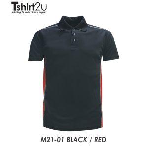 M21-01 BLACK / RED