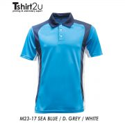 M23-17 SEA BLUE / D. GREY / WHITE