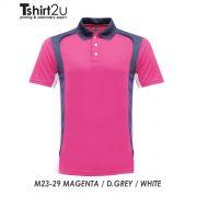 M23-29 MAGENTA / D. GREY / WHITE