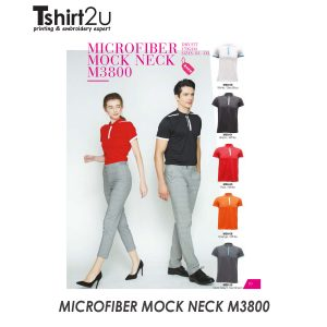 MICROFIBER MOCK NECK M3800