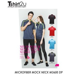 MICROFIBER MOCK NECK M3600 ZIP