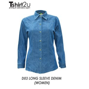 D03 LONG SLEEVE DENIM (WOMEN)