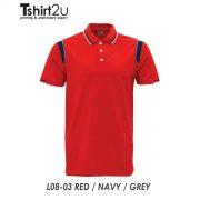 L08-03 RED / NAVY / GREY