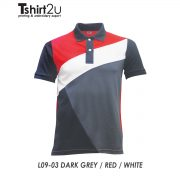 L09-03 DARK GREY / RED / WHITE