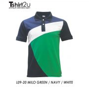 L09-20 MILO GREEN / NAVY / WHITE