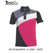 L09-29 MAGENTA / D. GREY / WHITE