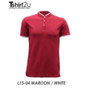 L15-04 MAROON / WHITE