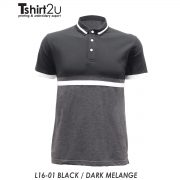 L16-01 BLACK / DARK MELANGE